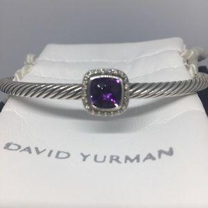 David Yurman Diamond Amethyst Bracelet
